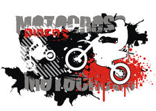 Motocross vector Stock Images