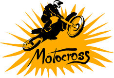 Motocross vector picture Stock Images