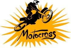 Motocross vectorbeeld Stock Afbeeldingen