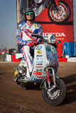 Motocross Vespa at EICMA 2013 in Milan, Italy Stock Image