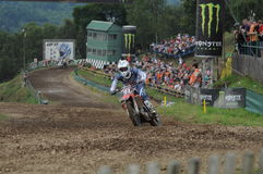 Motocross visitors Royalty Free Stock Images