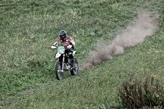 Motocross w movimento Zdjęcia Stock
