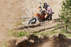 Motocross świetlicowy trening Zdjęcia Royalty Free