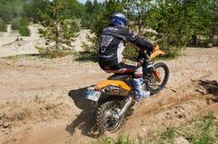 Motocross świetlicowy trening Zdjęcia Stock