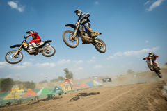 Motocross World Championship MX3 and WMX, Slovakia Stock Images