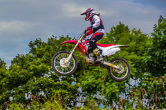 Motocross. The Motocross World Championship is a worldwide motocross series sanctioned by the F.I.M.. It was inaugurated in 1957 using a 500 cc engine Royalty Free Stock Images