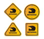 Motocross - yellow signs Royalty Free Stock Photo