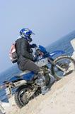 Motocross in zand Royalty-vrije Stock Afbeeldingen