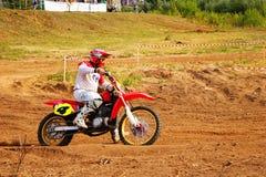 Motocross zu Ehren der Stadt, die Stadt von Tscheboksary Lizenzfreie Stockfotos