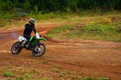 Motocross zu Ehren der Stadt, die Stadt von Tscheboksary Stockbild
