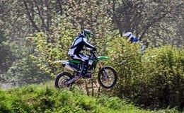 Motocrossaktion Stockfoto