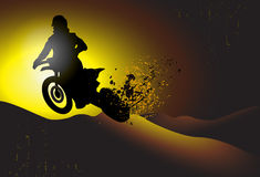 Motocrossbakgrund Stock Illustrationer