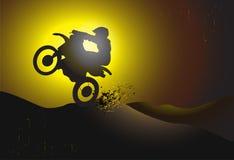 Motocrossbakgrund Royaltyfri Foto