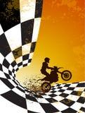 Motocrossbakgrundsdesign Royaltyfria Bilder
