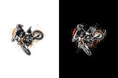 Motocrossbanhoppning stock illustrationer