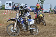 Motocrossbestuurder Stock Foto's