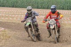 Motocrossbestuurders Royalty-vrije Stock Afbeelding