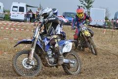 Motocrosschaufför Arkivfoton