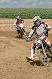 Motocrosschaufförer Arkivfoton