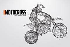 Motocrosschaufförkontur också vektor för coreldrawillustration vektor illustrationer