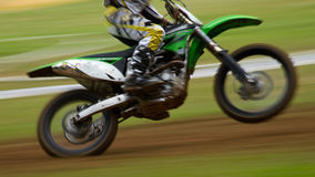 Motocrosser. Some mud in a motocross competition Royalty Free Stock Photos