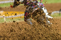Motocrosser. Some mud in a motocross competition Stock Photos