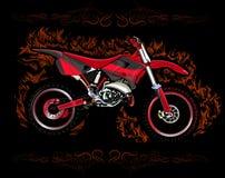 Motocrossfiets rad vector illustratie