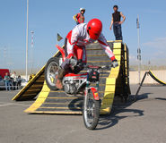 Motocrossfristil Arkivfoton