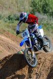 Motocrosshöjdhopp Royaltyfri Foto