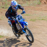 Motocrosshöjdhopp Arkivbilder