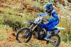 Motocrosshöjdhopp Royaltyfri Fotografi