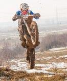 Motocrosshopp Arkivbild