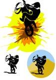 Motocrossillustration Lizenzfreies Stockbild