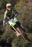 Motocrosskonkurrens Catalan motocrossloppliga Arkivfoto