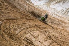 Motocrosspraktijk royalty-vrije stock foto