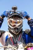 Motocrossras Stock Foto's