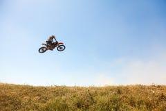 Motocrossras Royalty-vrije Stock Afbeeldingen
