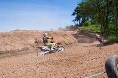 Motocrossreiter Stockbild