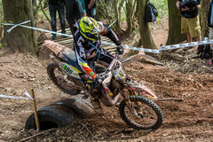 Motocrossreiter am Drapak-Rodeo-Rennen Stockfotos
