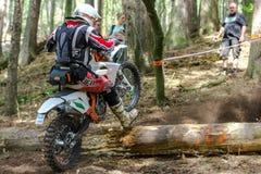 Motocrossruiter bij het Drapak-Rodeoras Royalty-vrije Stock Afbeeldingen