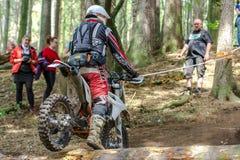 Motocrossruiter bij het Drapak-Rodeoras Royalty-vrije Stock Fotografie