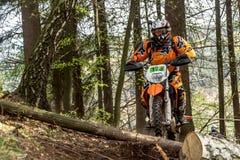 Motocrossruiter bij het Drapak-Rodeoras Stock Afbeelding