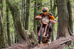 Motocrossruiter bij het Drapak-Rodeoras Stock Fotografie