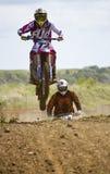 Motocrossryttare Royaltyfria Bilder