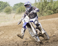 Motocrossryttare Royaltyfri Foto