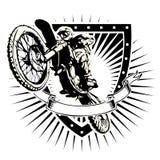 Motocrosssköld Arkivfoto