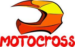 Motocrosssturzhelm Stockbild