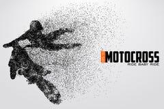 Motocrosstreiberschattenbild Auch im corel abgehobenen Betrag vektor abbildung