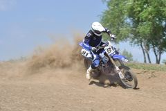 Motocrossuitdaging Royalty-vrije Stock Foto