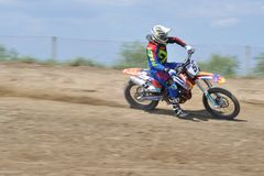 Motocrossutmaning royaltyfria bilder